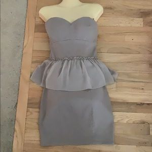 New without tags Guess Taupe Peplum Dress Sz 6